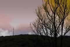 Beauté supérieure de colline Images libres de droits