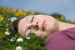 Beauté un sommeil Image libre de droits