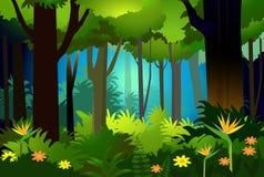 Beauté-vecteur de forêt Photographie stock libre de droits