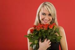 Beauté avec des fleurs Photos libres de droits
