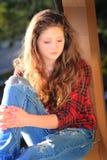 Beauté de l'adolescence à la mode Photo libre de droits