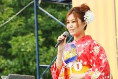 Beauté de Mlle Fuji sur l'étape principale au Japon Image libre de droits