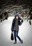 Beauté en stationnement de l'hiver Photographie stock libre de droits