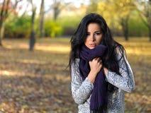 Beauté pendant l'automne Image stock