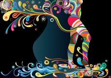 beaute curves natt Arkivbild