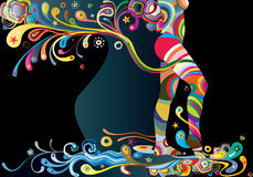 Beaute curves in the night Stock Photography
