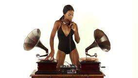 Beautfiul留声机DJ 影视素材