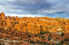 Beautfiul Contrasts in Arches National Park Stock Photo