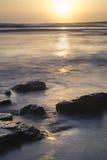 Beautfiul vibrant sunset over Kimmeridge Bay Jurassic Coast Engl Royalty Free Stock Images