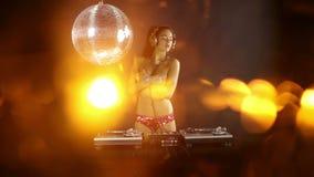 Beautfiul weibliches DJ