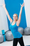 Beautfiul woman working out in a gym Royalty Free Stock Images