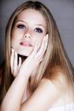 beautful白肤金发的妇女 免版税图库摄影