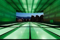beautful budynku miasta w nocy Obrazy Royalty Free