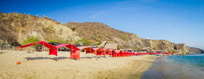Beautful panorama view of Playa Blanca beach in Stock Photo