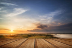 Beautful Summer evening landscape over wetlands and harbour with Stock Photography