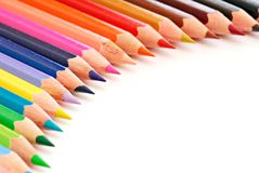 Beauti semicircle composition. Beautiful semicircle composition of colored pencils Stock Photo
