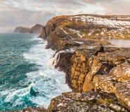 Beauti van de Faeröer en zijn klippen stock foto