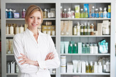 Beautician Advising On Beauty Products. Portrait Of Beautician Advising On Beauty Products Royalty Free Stock Photo
