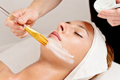 Beauty treatment, facial Stock Images
