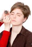 Beautician creating makeup Royalty Free Stock Photo