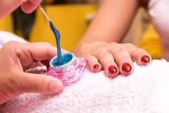 At the beautician Stock Photography