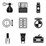 Beautician icons set, simple style. Beautician icons set. Simple set of 9 beautician vector icons for web isolated on white background Royalty Free Stock Photo