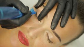 Beautician Making Artificial Lashes