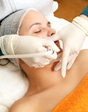 Beautician at work Royalty Free Stock Photography