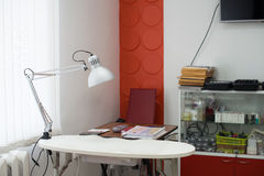 Beautician working place stock image