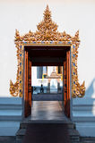 Beautidul gate of Buddhist temple Stock Photos