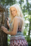 Beautidul Model In A Forest Stock Photo