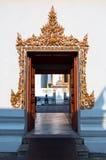 Beautidul port av den buddistiska templet arkivfoton