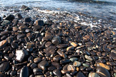 Beauties rock beach Stock Image