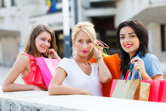 Beauties Shopping Stock Image