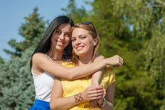 Beauties in style Royalty Free Stock Photo
