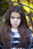 Beautifal little girl in the autumn park Royalty Free Stock Images