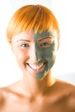 Beautifier Green Mask Royalty Free Stock Image