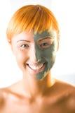 Beautifier green mask Royalty Free Stock Image