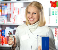 Beautifil pharmacist Stock Image