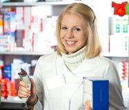 Beautifil pharmacist Stock Image
