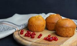 Beautifil słodka bułeczka babeczka z jagodami Fotografia Royalty Free