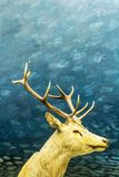 Beautifiul deer, artistic image, Natural History Museum, London. United Kingdom royalty free stock image