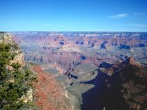 The Grand Canyon. Beautifl view from the south rim Royalty Free Stock Photography