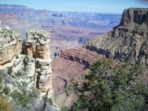 The Grand Canyon. Beautifl view from the south rim Stock Photos