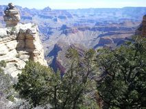 The Grand Canyon. Beautifl view from the south rim Stock Image