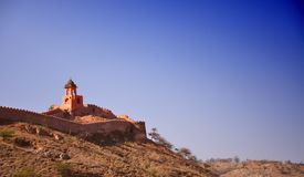 Beautifoul Amber Fort near Jaipur city in India. R Royalty Free Stock Photography