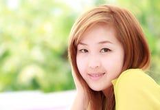 Beautifu Asian woman taken in natural light Stock Images