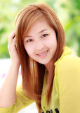 Beautifu Asian woman taken in natural light Stock Photography