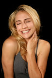 Beautifu Blonde Woman in Bliss Royalty Free Stock Photo