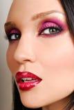 Beautifu brunettel Mädchen mit Lizenzfreie Stockfotos